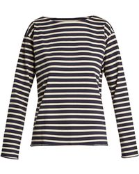 M.i.h Jeans - Simple Striped Cotton-jersey Top - Lyst