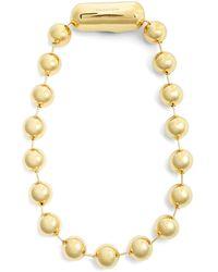 Balenciaga - Ball-bead Chain Necklace - Lyst