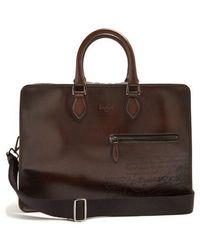 Berluti - 2 Jours Leather Briefcase - Lyst