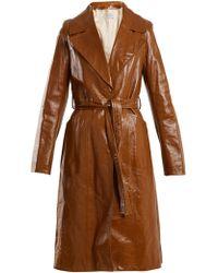 Yves Salomon - Tie-waist Patent-leather Trench Coat - Lyst