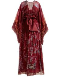 Zandra Rhodes - - Summer Collection The 1973 Field Of Lilies Gown - Womens - Burgundy Multi - Lyst