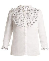 Jupe by Jackie - Fairy Floral-embroidered Cotton-organza Shirt - Lyst