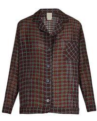 Morpho + Luna - Cara Cotton And Silk-blend Pyjama Shirt - Lyst