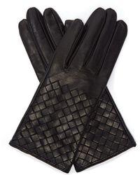 Bottega Veneta - Intrecciato-leather Gloves - Lyst