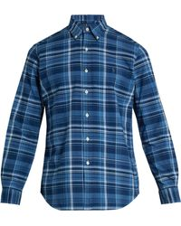 Polo Ralph Lauren | Logo-embroidered Checked Cotton Shirt | Lyst