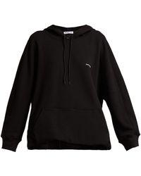 Balenciaga - Cocoon Logo-embroidered Hooded Sweatshirt - Lyst