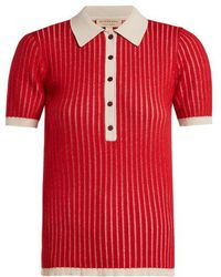 Burberry - Contrast-collar Cashmere-blend Polo Shirt - Lyst