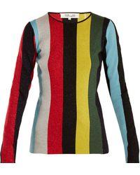 Diane von Furstenberg - Striped Wool-blend Jumper - Lyst