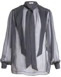 Balenciaga - Gathered Blouse - Lyst