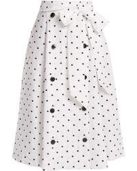 Lisa Marie Fernandez - Diana Polka-dot Linen Skirt - Lyst