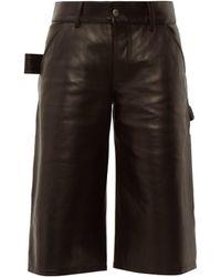 Bottega Veneta Leather Utility Shorts