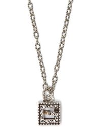 Gucci G Motif Sterling Silver Necklace - Metallic