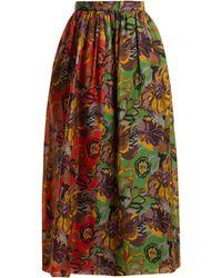 Duro Olowu - Jupe en gazar de soie à imprimé floral - Lyst