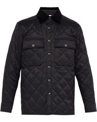 Burberry - Diamond Quilted Thermoregulated Overshirt - Lyst