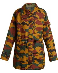 Burberry - Camouflage Twill Jacket - Lyst