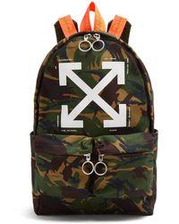 Off-White c/o Virgil Abloh - Logo-print Camouflage Backpack - Lyst