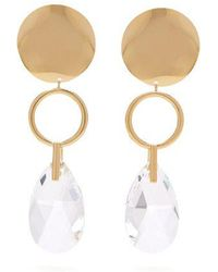 Isabel Marant - Gold-plated Hoop And Crystal Drop Earrings - Lyst