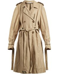 JW Anderson - Double Breasted Twill Trench Coat - Lyst