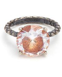Bottega Veneta - Cubic-zirconia And Silver Ring - Lyst