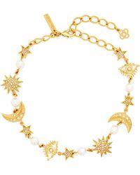 Oscar de la Renta - Crystal-embellished Charm Necklace - Lyst