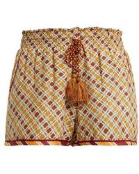 Talitha - Tutsi Graphic-print Cotton And Silk-blend Shorts - Lyst
