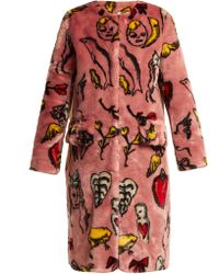 Shrimps - Aidan Print Faux Fur Coat - Lyst