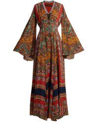 Etro - Zoist Paisley-print Silk-chiffon Dress - Lyst