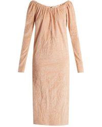 Isa Arfen - La Femme Crushed-velvet Dress - Lyst