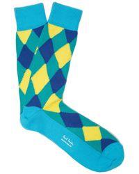 Paul Smith - Argyle Cotton Blend Socks - Lyst