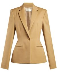 The Row - Francene Single Breasted Stretch Wool Blazer - Lyst