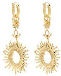 Ellery - Strangerland Sun Gold-tone Earrings - Lyst