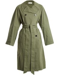 MASSCOB - Double Breasted Cotton Trench Coat - Lyst