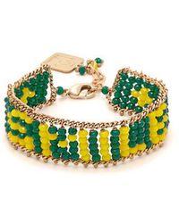Rosantica By Michela Panero - - Smile Beaded Bracelet - Womens - Green - Lyst