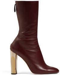 Alexander McQueen - Leather Ankle Boots - Lyst
