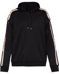 ce68c1714e9 Gucci - Logo Tape Detachable Sleeve Hooded Sweatshirt - Lyst