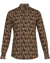 Dolce & Gabbana - Liberty Logo Print Cotton Shirt - Lyst