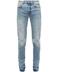 Amiri Thrasher Distressed Slim Leg Jeans - Blue
