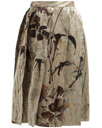 Vivienne Westwood - Garret Chinese Jacquard Slit Midi Skirt - Lyst