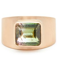 Irene Neuwirth - 18kt Brushed Rose-gold & Tourmaline Ring - Lyst