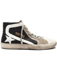 Golden Goose Deluxe Brand - Slide High-top Leather Trainers - Lyst