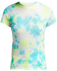 The Elder Statesman - Tie Dye Cashmere And Silk Blend T Shirt - Lyst