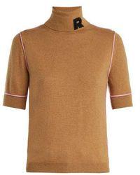 Rochas - Logo-appliqué Cashmere Turtleneck - Lyst