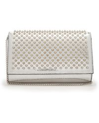 Christian Louboutin   Paloma Spike-embellished Leather Clutch   Lyst