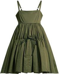 Molly Goddard - Phillipa Cotton Twill Tiered Mini Dress - Lyst