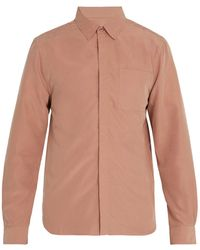 Saturdays NYC - Mickey Concealed Button Modal Blend Shirt - Lyst