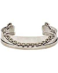 Title Of Work - Chain Trimmed Sterling Silver Cuff - Lyst