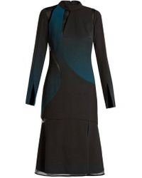 Versace - Cut-out High-neck Layered Dress - Lyst