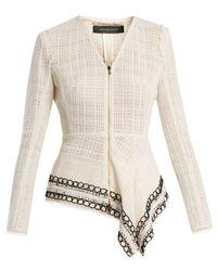 Roland Mouret - Hayton Open-weave Cotton Jacket - Lyst