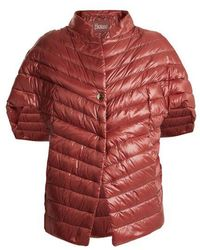 Herno - High-neck Quilted Down Cape - Lyst