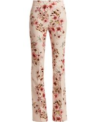 Giambattista Valli - High Waisted Floral Trousers - Lyst